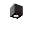 Люстра IDEAL LUX MOOD PL1 D09 SQUARE NERO